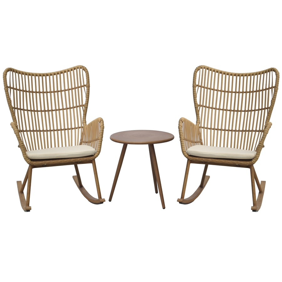 style selections lynton 3 piece metal frame patio conversation set with cushion s included