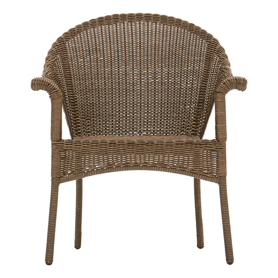 style selections valleydale woven stackable brown metal frame stationary conversation chair s with woven seat