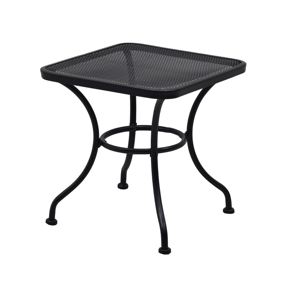 garden treasures davenport square outdoor end table 18 in w x 18 in l with lowes com
