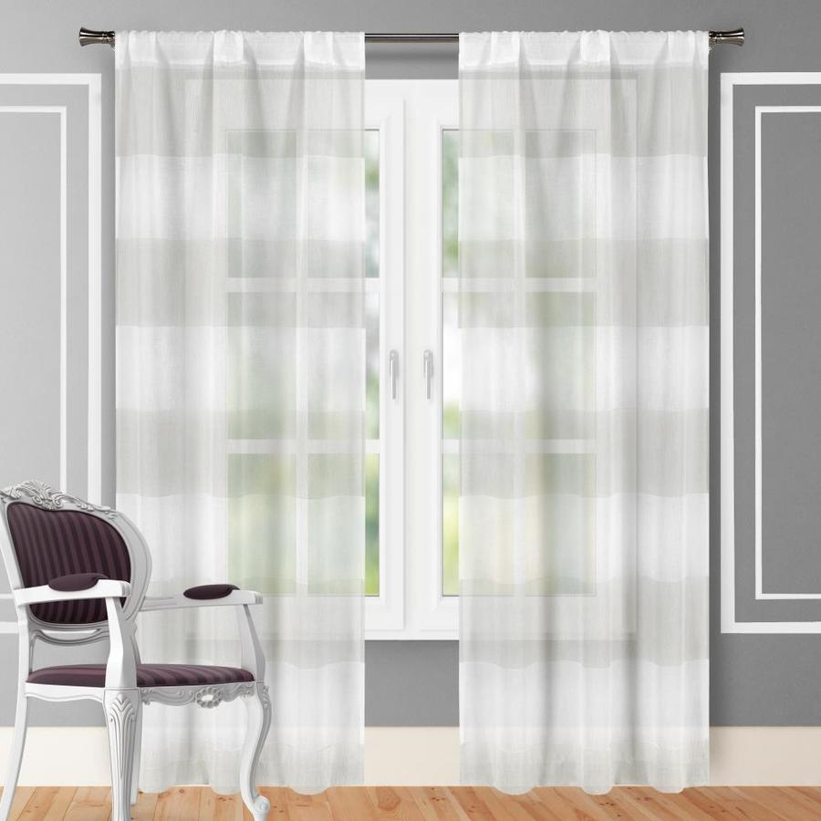 duck river textile 96 in taupe white polyester sheer standard lined rod pocket curtain panel pair