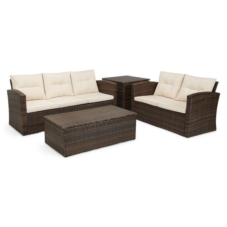 grearden metal frame patio conversation set with cushion s included