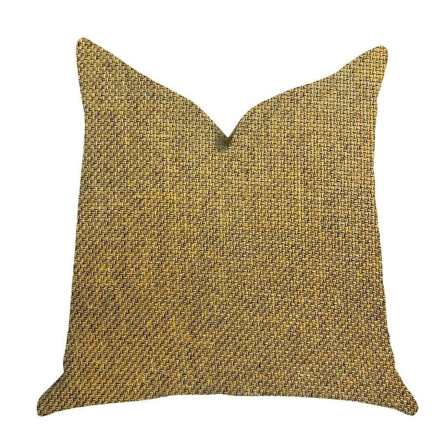 plutus brands mustard seed 12 in x 24 in yellow 100 polyester rectangular indoor decorative pillow
