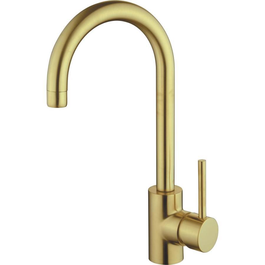 cmi casmir matte gold 1 handle deck mount bar and prep handle kitchen faucet