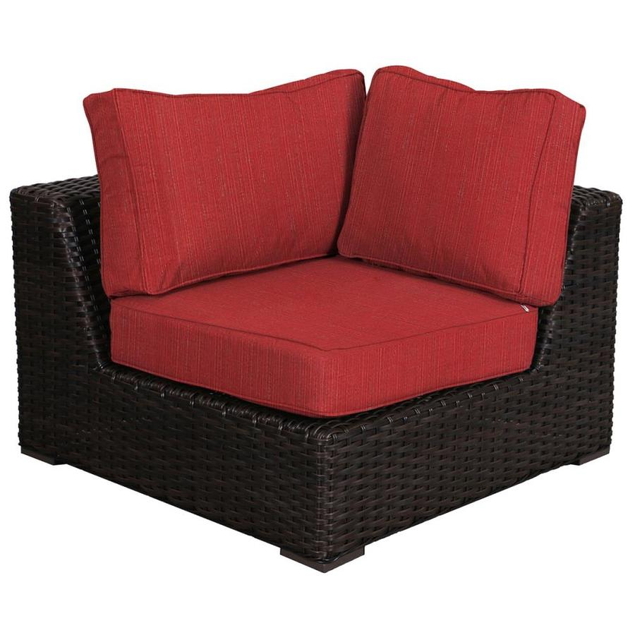 teva furniture santa monica wicker outdoor sofa with cushion s and crimson duopine rattan frame