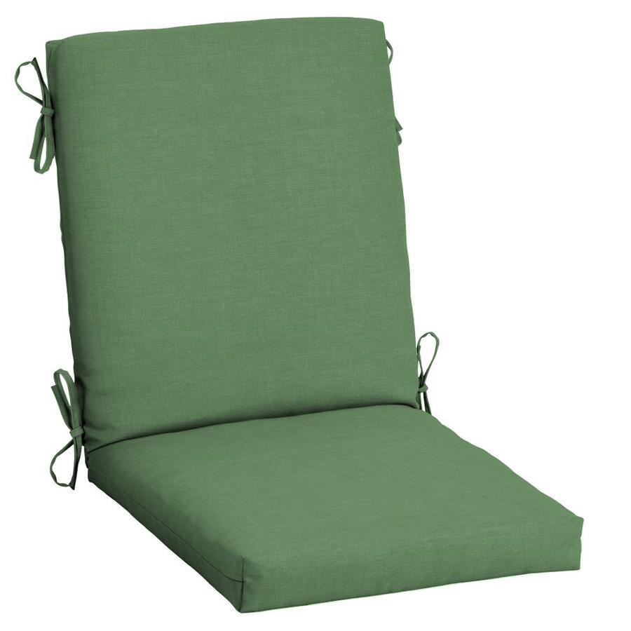 arden selections moss leala texture high back patio chair cushion