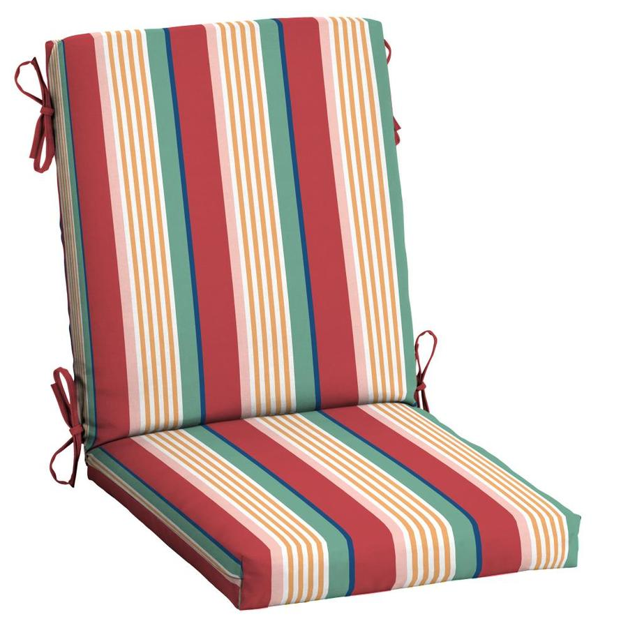 arden selections keeley stripe high back patio chair cushion