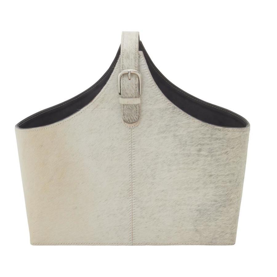 grayson lane grayson lane 15 in x 17 in x 5 in modern magazine rack holder white leather