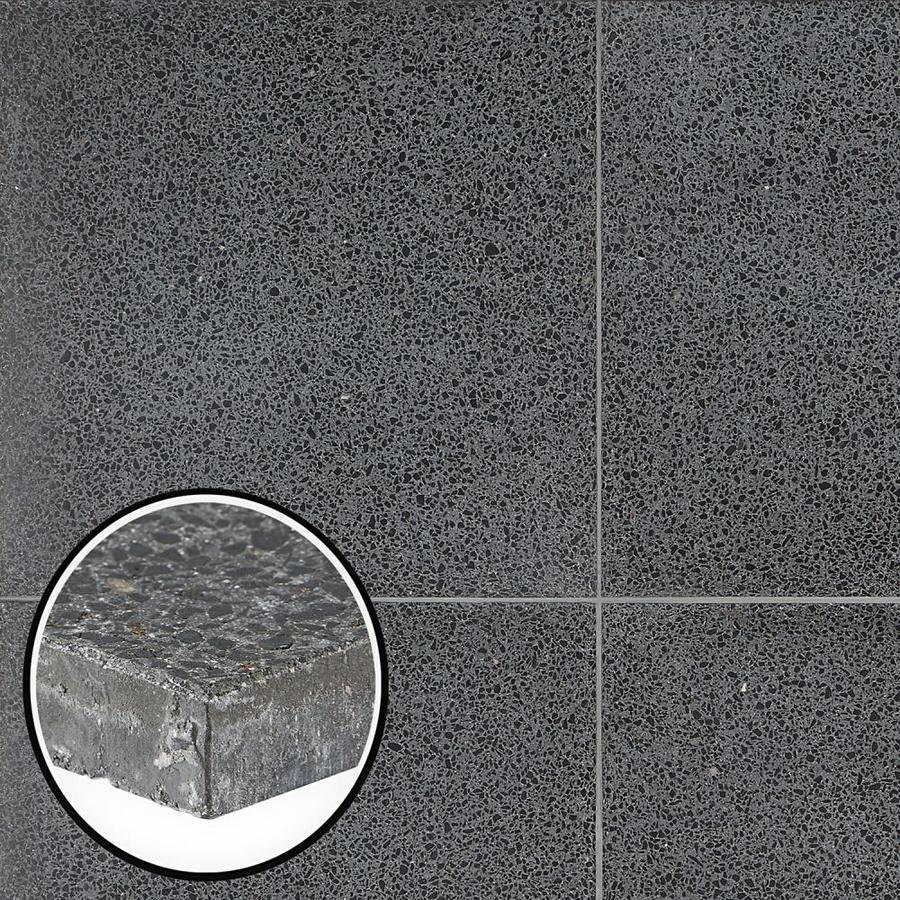 artmore tile tarboro terrazzo 2 pack jet 16 in x 16 in polished cement cement look floor and wall tile