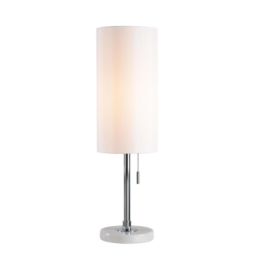 north star designs spokane 24 in chrome 3 way table lamp with fabric shade