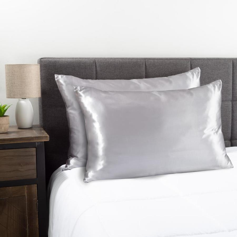 hastings home 2 pack silver gray standard microfiber pillow case
