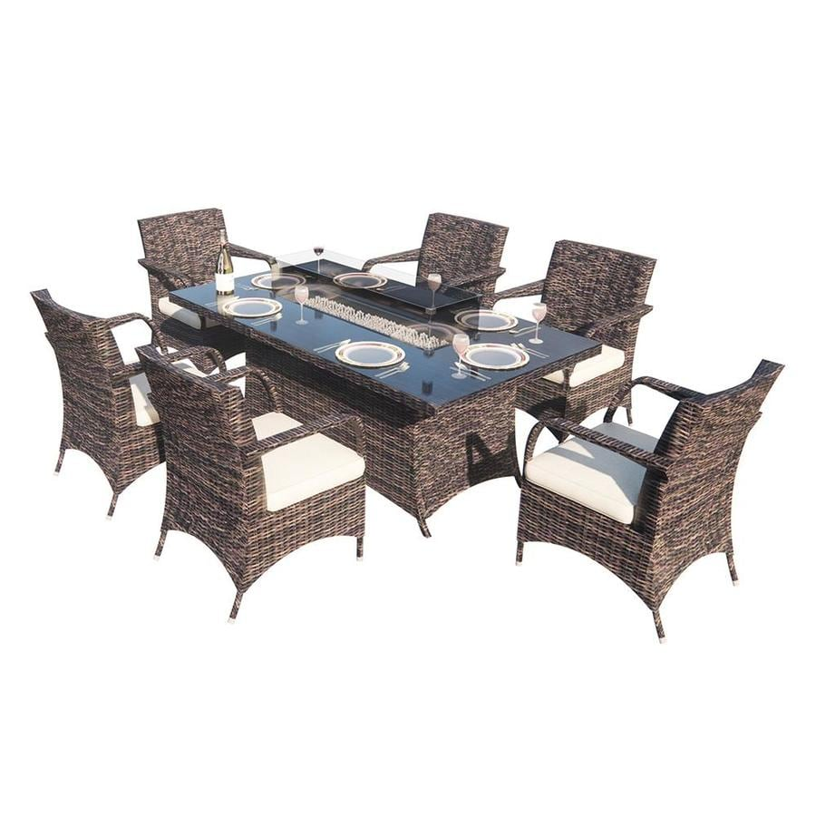fire pit included patio dining sets at