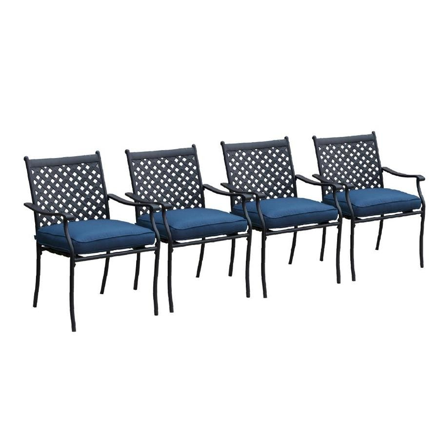 cushioned seat in the patio chairs