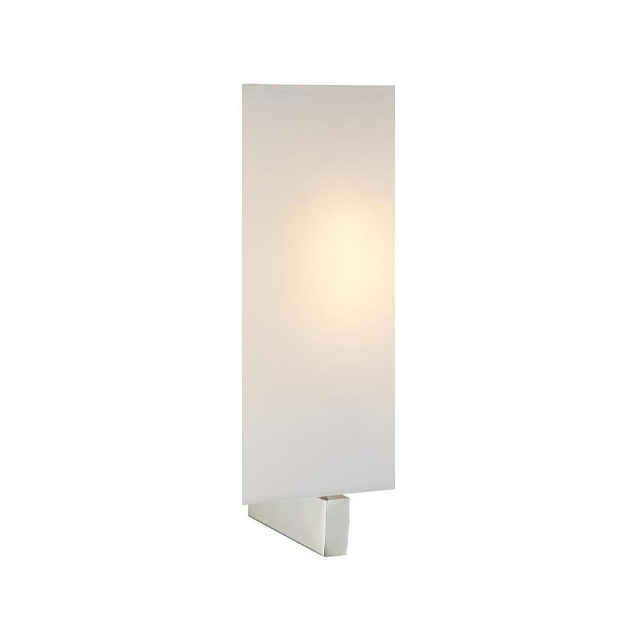 lucid lighting 7 in indoor wall sconce 1 light simple square shape blends with modern and contemporary style white glass shade brushed nickel