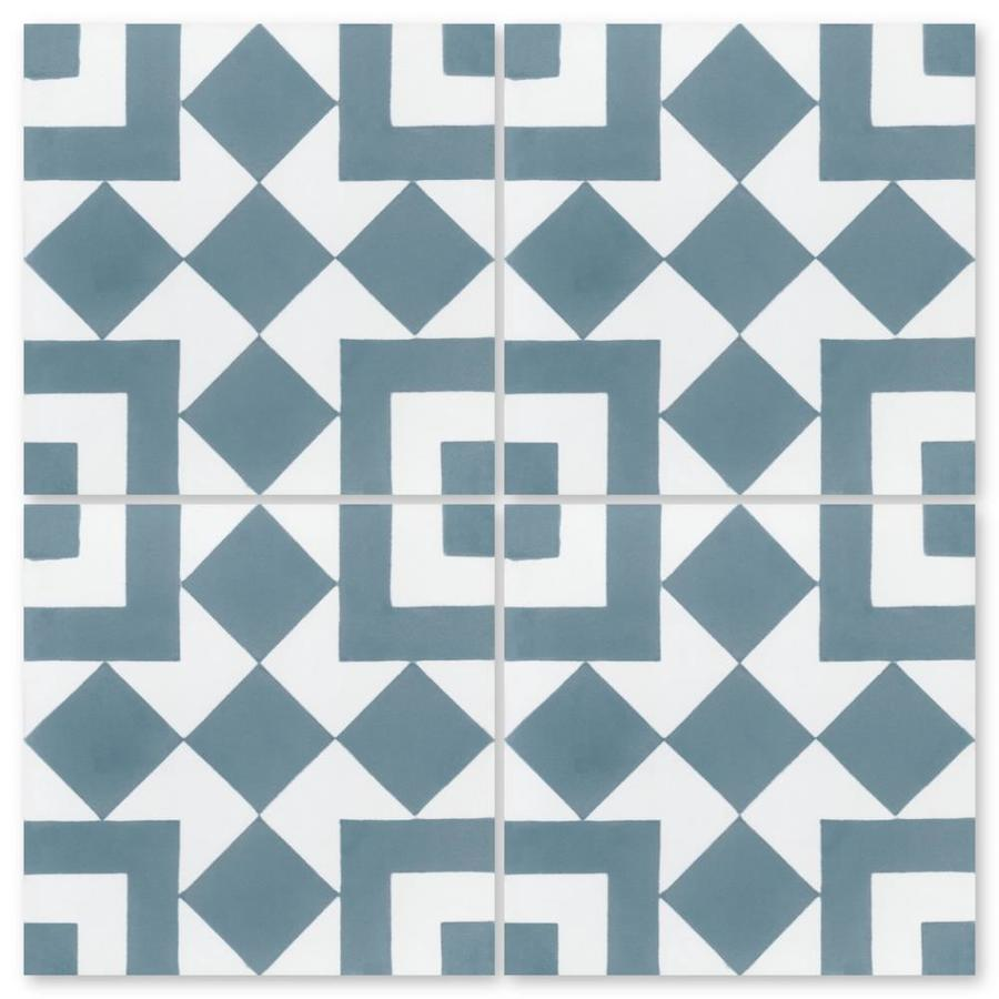 villa lagoon tile marrakesh a stone blue 16 pack 8 in x 8 in unglazed cement patterned floor and wall tile