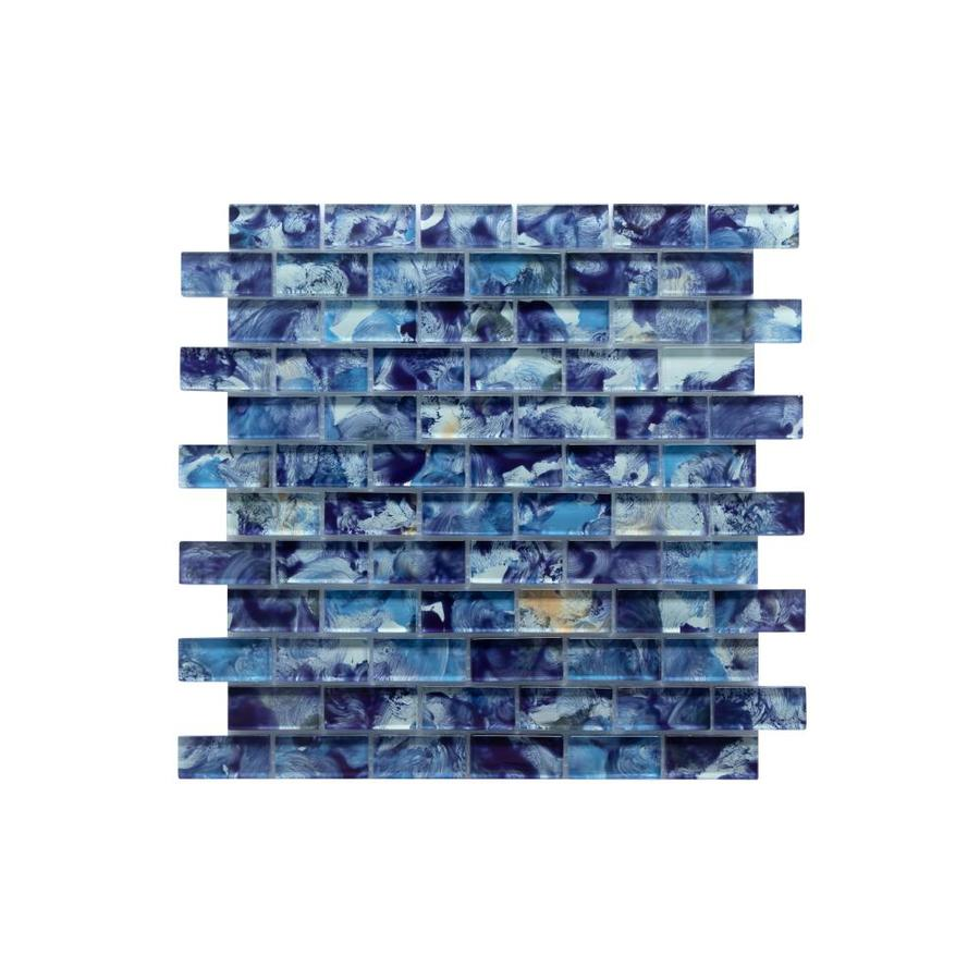 ws tiles swimming pool series 5 pack pacific blue 12 in x 12 in glossy glass brick wall tile