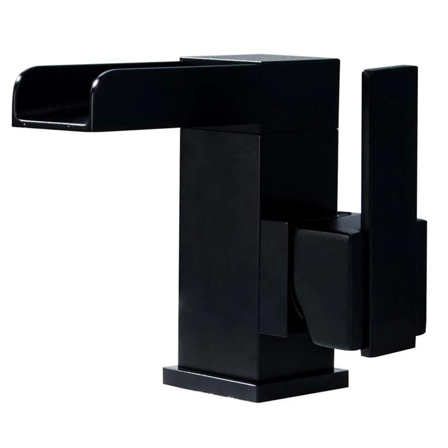casainc waterfall faucet matte black 1 handle single hole bathroom sink faucet