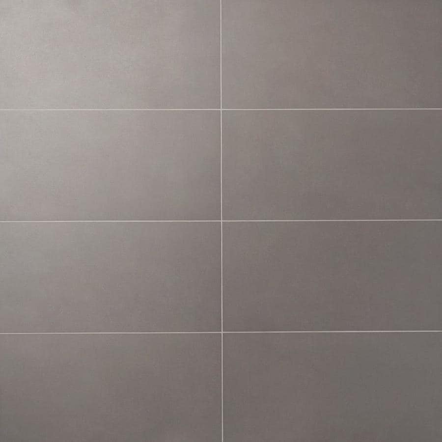 artmore tile toughtech 5 pack dark gray 12 in x 24 in matte porcelain stone look floor and wall tile