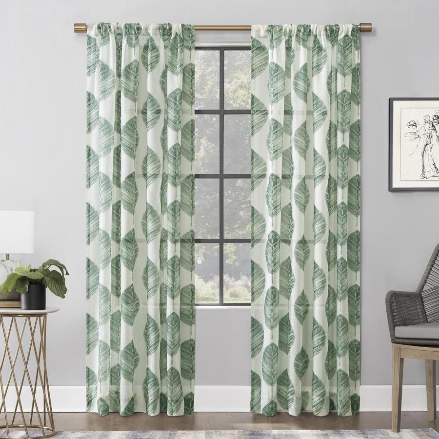 green sheer curtains drapes at lowes com