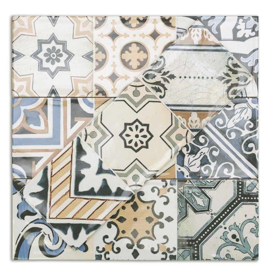 polished ceramic wall tile sample