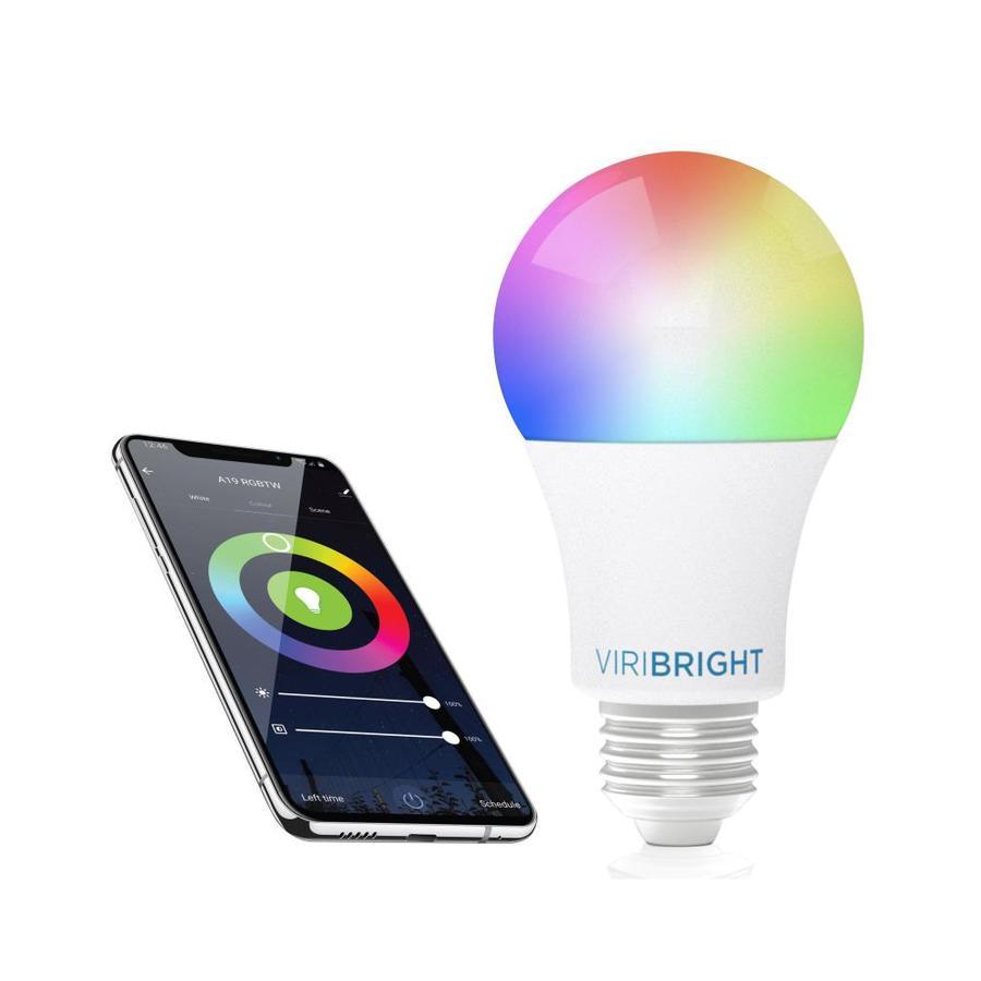 viribright lighting smart led bulbs 60 watt eq a19 full spectrum dimmable smart led light bulb