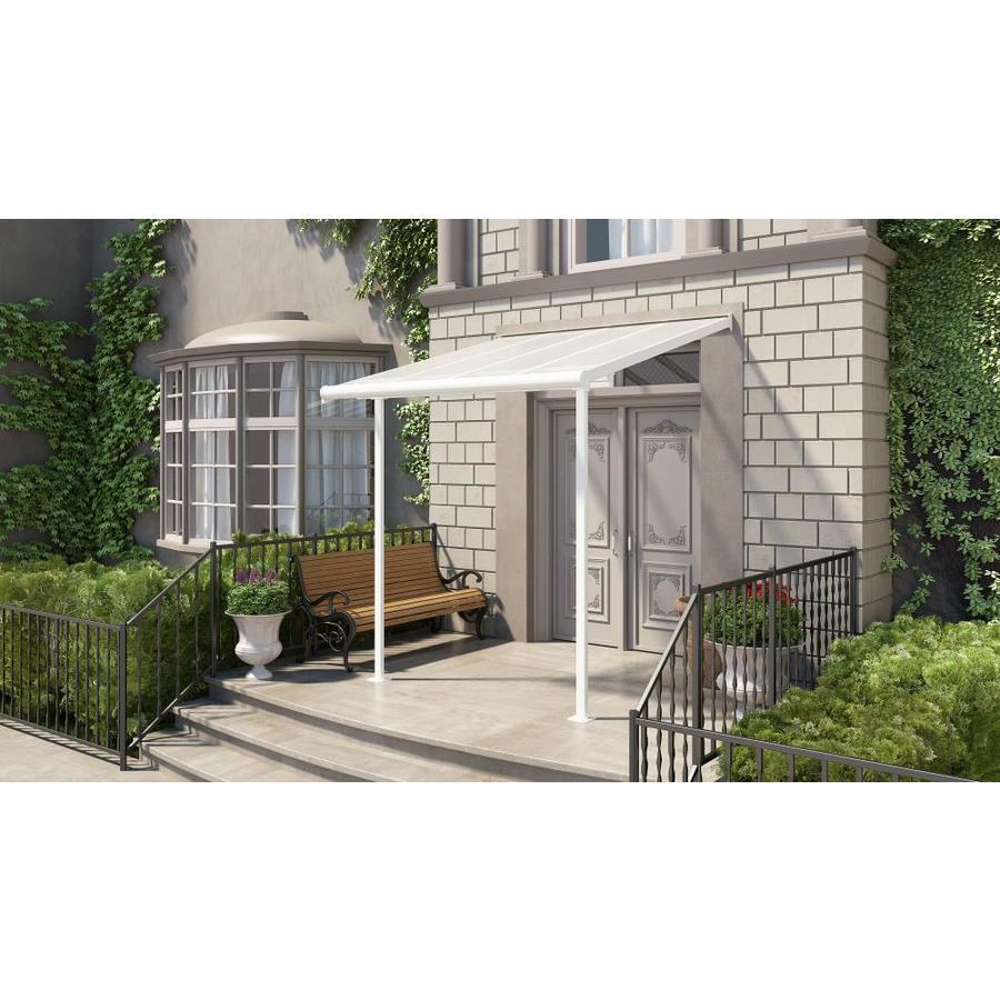 palram 7 5 ft x 7 5 ft white aluminum patio cover