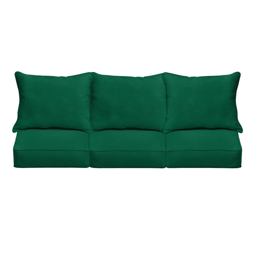 mozaic company sunbrella canvas teal patio sofa cushion