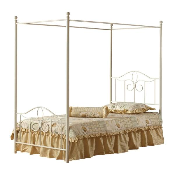 Shop Hillsdale Furniture Westfield Off White Twin Canopy Bed at     Hillsdale Furniture Westfield Off White Twin Canopy Bed