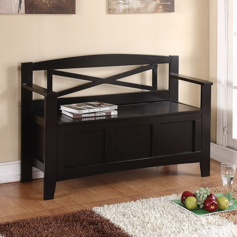 Shop Office Star Osp Designs Black Indoor Accent Bench With Storage At