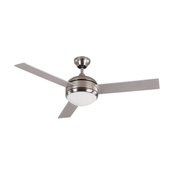Shop Canarm Calibre 48 in Brushed pewter Indoor Downrod Mount     Canarm Calibre 48 in Brushed pewter Indoor Downrod Mount Ceiling Fan with  Light Kit and