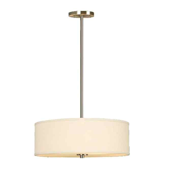 Galaxy Ansley 18 In Brushed Nickel Single Drum Pendant