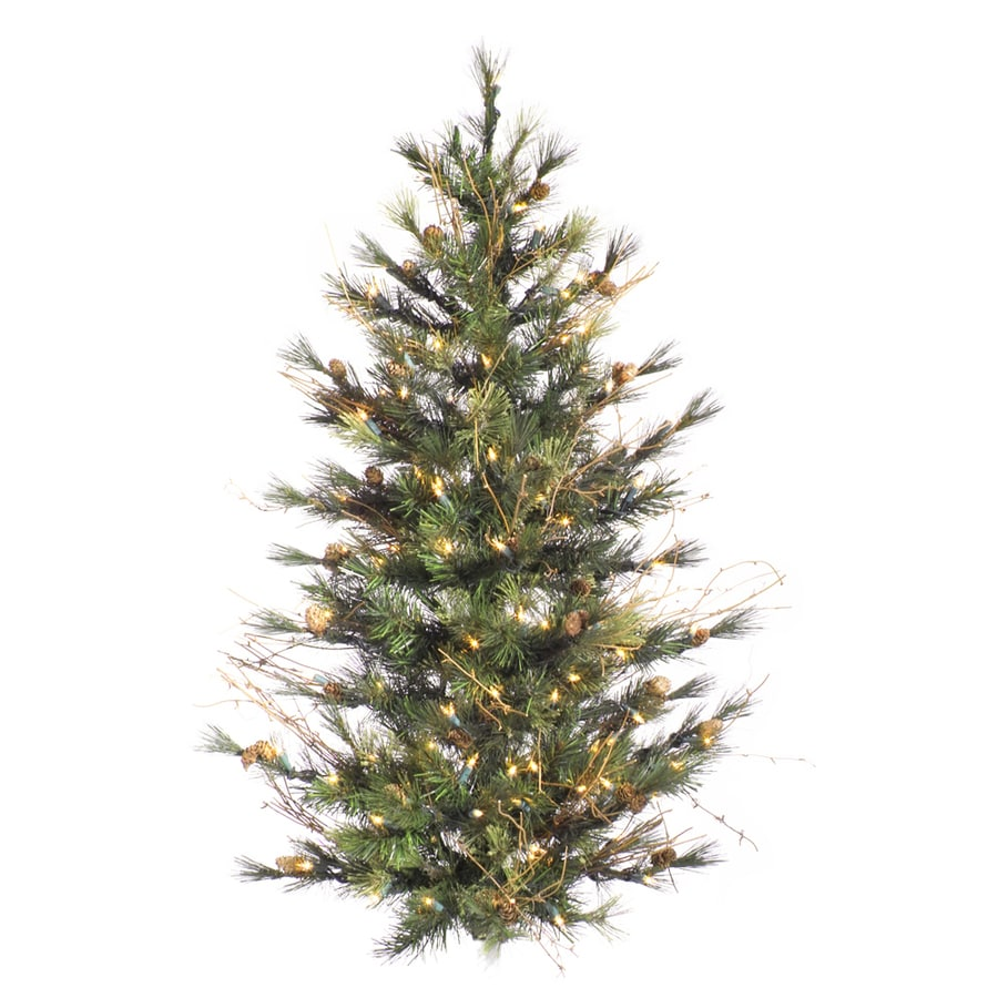 Vickerman 3 Ft Pre Lit Artificial Christmas Tree With 100 Constant White Clear Incandescent