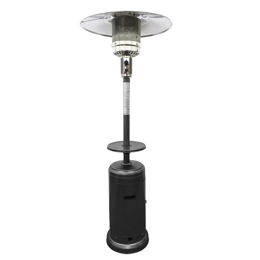 az patio 41000 btu hammered silver steel floorstanding liquid propane patio heater