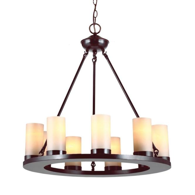 Sea Gull Lighting Ellington 27 In 9 Light Burnt Sienna Rustic Candle Chandelier