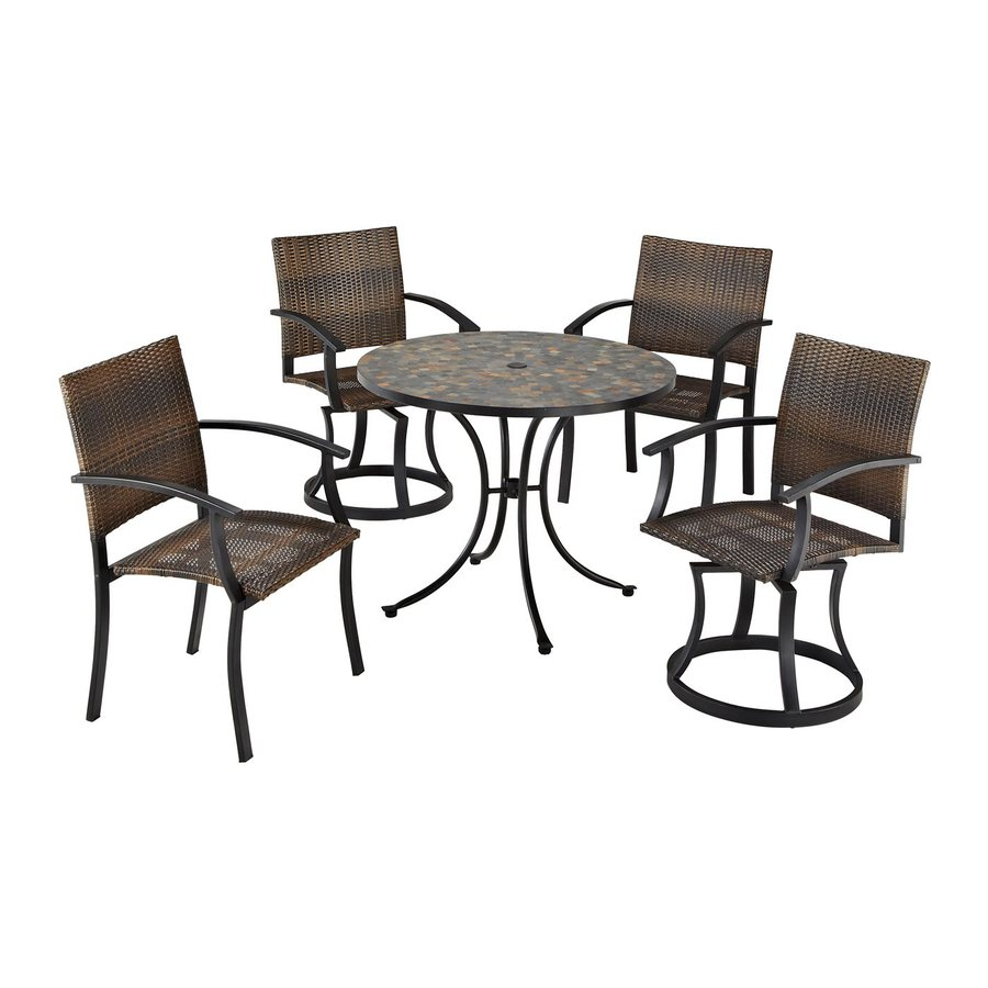 tile patio dining