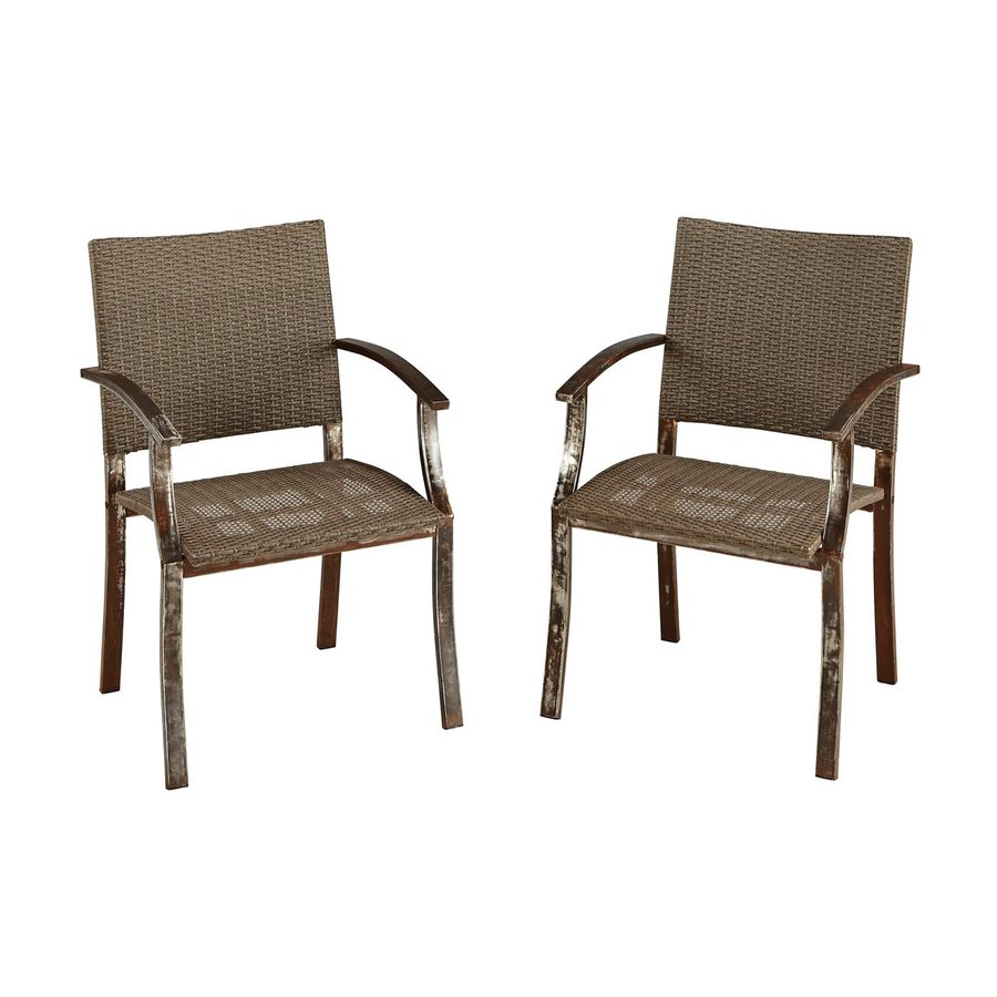 count woven vinyl patio dining chairs