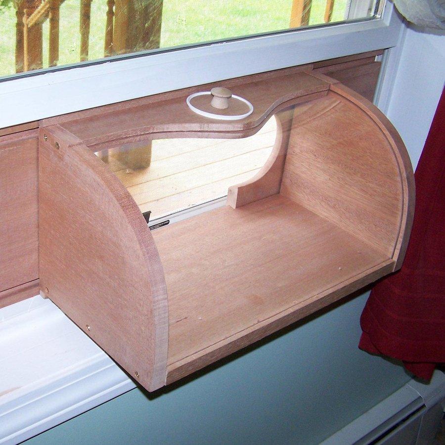 Shop Coveside Conservation Bread Box Wood Window Bird