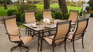Shop Hanover Outdoor Furniture Monaco 7 Piece Bronze Stone