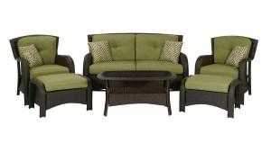 Hanover Outdoor Furniture Strathmere 6 Piece Wicker Frame