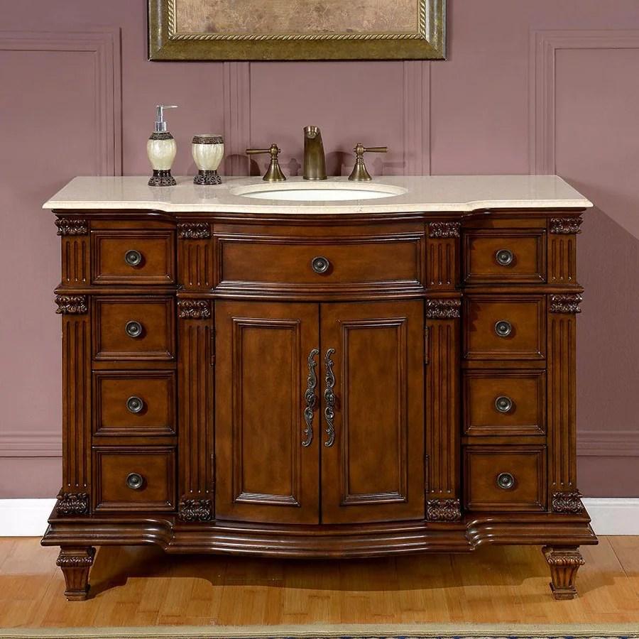shop silkroad exclusive esther walnut undermount single sink