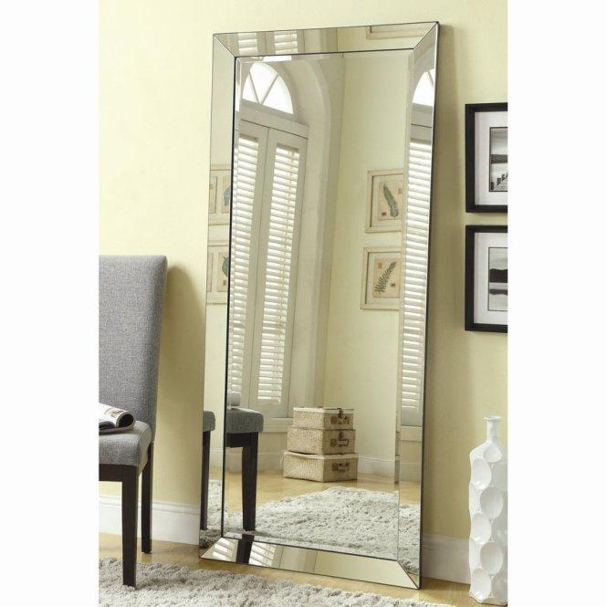 Allen Roth White Beveled Wall Mirror
