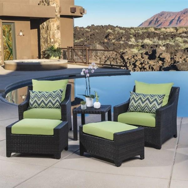 outdoor wicker patio conversation sets Shop RST Brands Deco 5-Piece Wicker Frame Patio