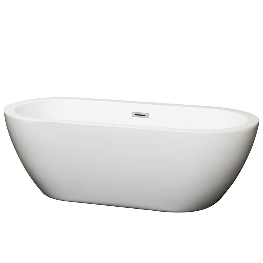 Shop Wyndham Collection Soho 68 In White Acrylic Oval