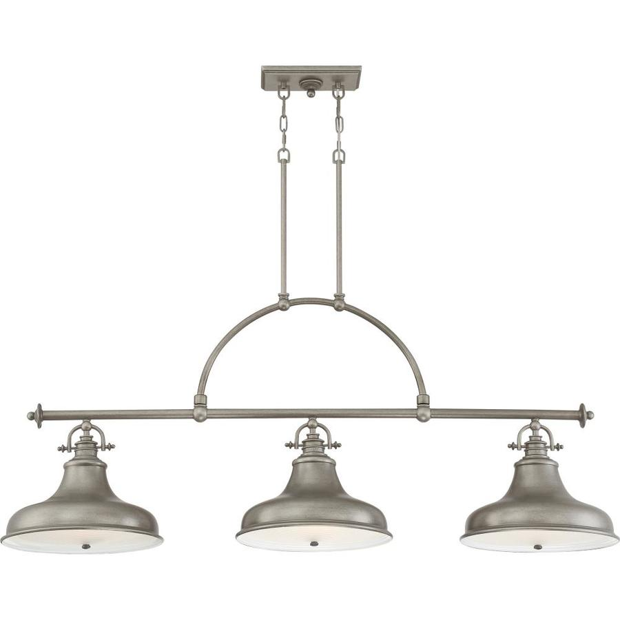 https www lowes com pd quoizel emery distressed nickel transitional kitchen island light 1001084474