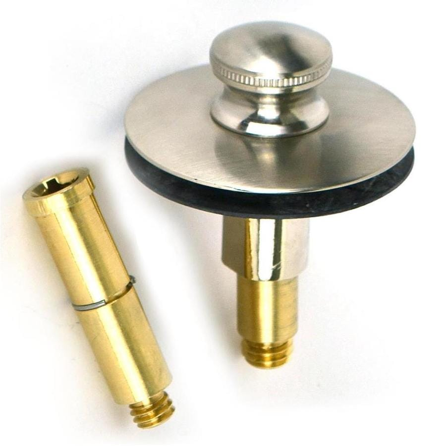 WATCO 1 In Brushed Nickel Roller Ball Drain With Brass