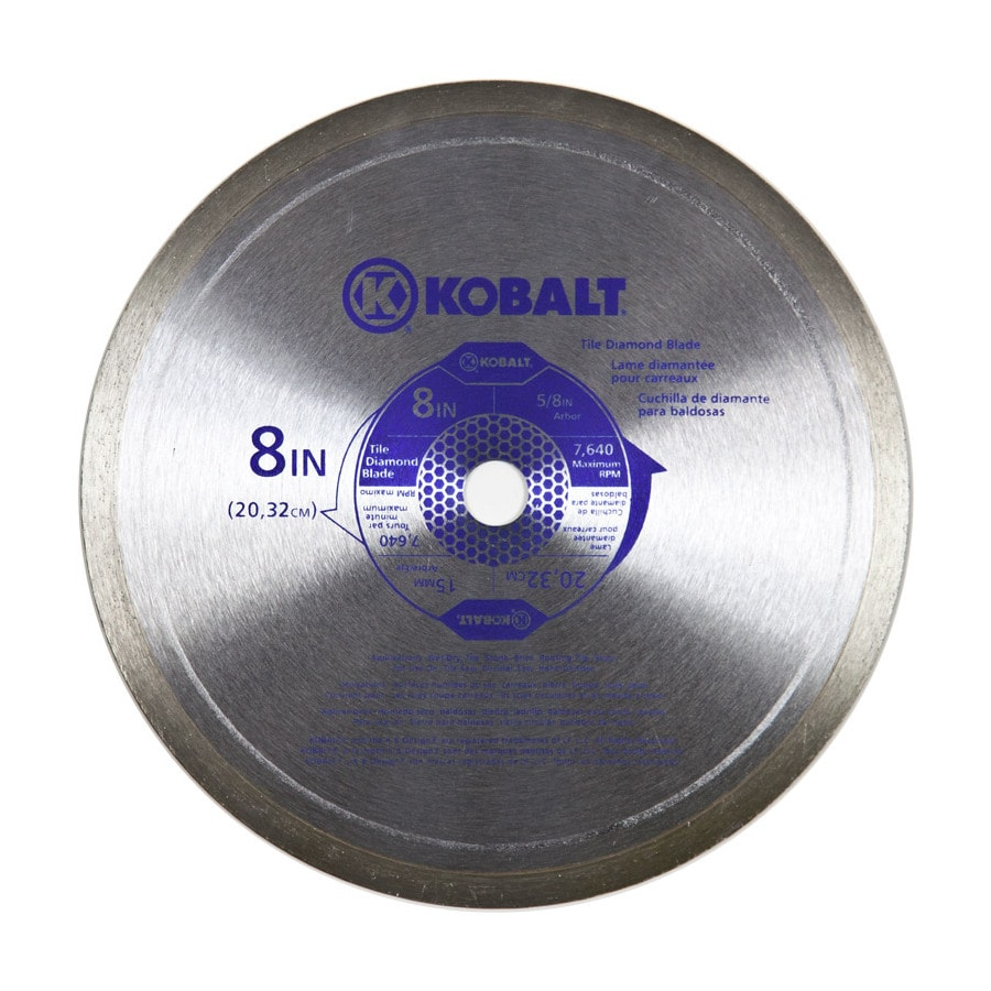 kobalt 8 in 1 tooth wet or dry continuous diamond tipped steel circular saw blade