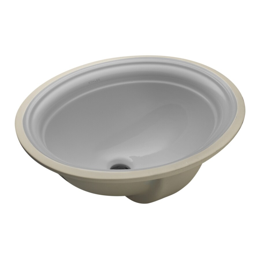 kohler devonshire ice grey undermount oval bathroom sink with overflow drain 18 375 in x 15 25 in