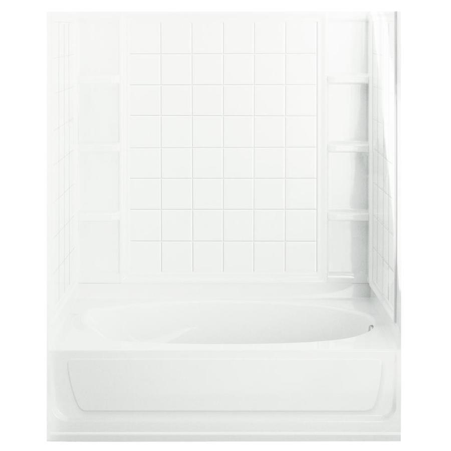 Sterling Ensemble AFD White 4 Piece Bathtub Shower Kit