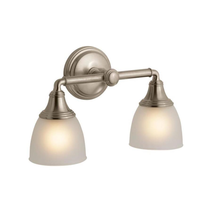 KOHLER Devonshire 14.9375-in W 2-Light Vibrant Brushed ... on Bathroom Sconce Lights Brushed Bronze id=96112