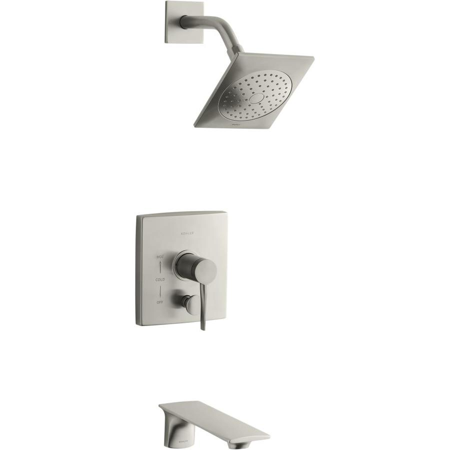 KOHLER Stance Vibrant Brushed Nickel 1 Handle Bathtub And
