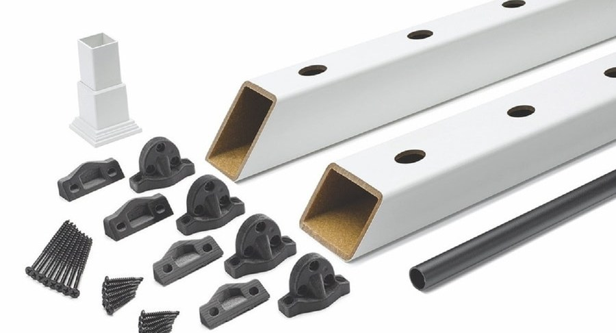 Trex Enhance 6 Ft X 2 75 In X 36 In Classic White Composite Deck | Trex Enhance Stair Railing | Composite Decking | Trex Transcend | Lighting | Installation Instructions | Vintage Lantern